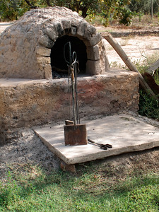 Brick Oven at Posada Cavieres