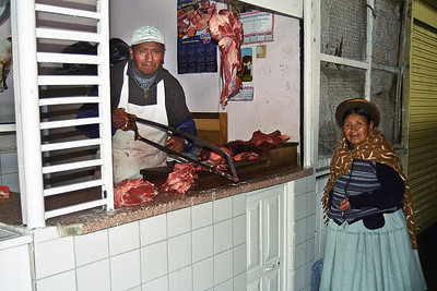 The butcher at the market...