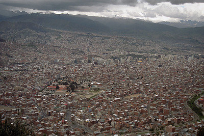Finally got here on day 3 via Caracas and Lima...here's La Paz...the 'fishbowl'!...