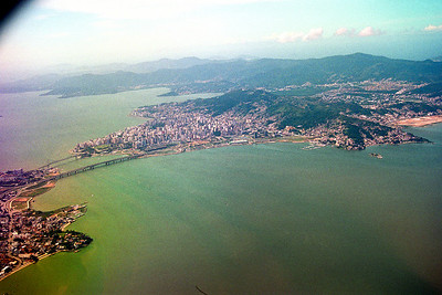 Florianopolis from the plane...