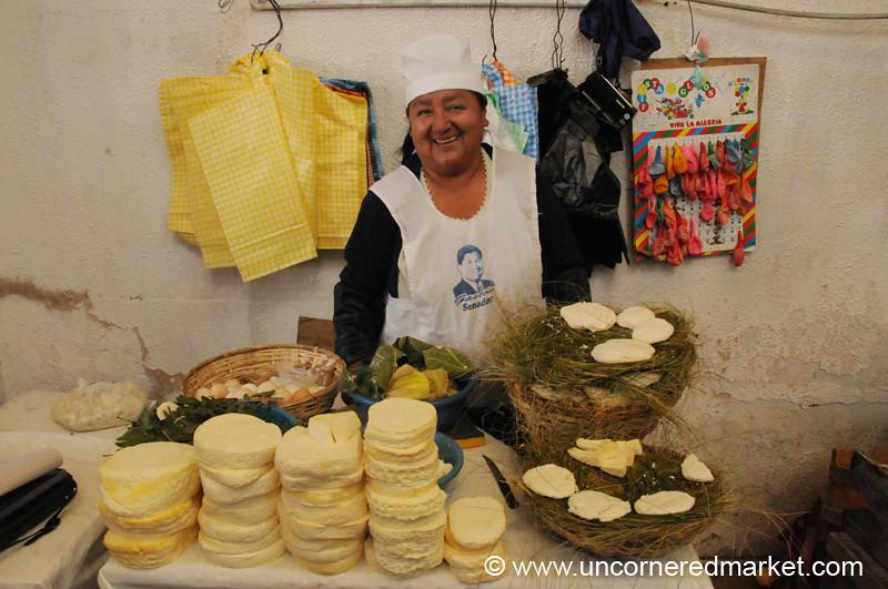 Super Friendly Goat Cheese Lady - Sucre, Bolivia