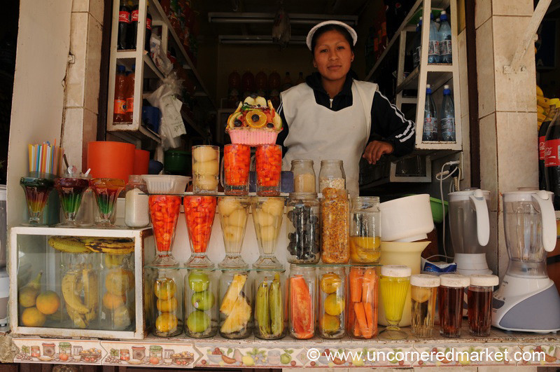 Bolivian Fruit Juice Stand