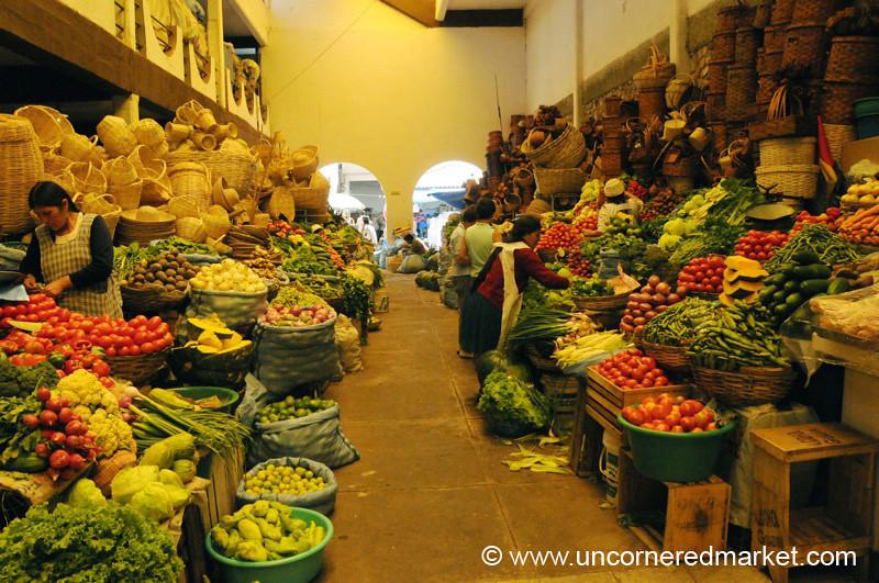 Abundance of Vegetables - Sucre, Bolivia