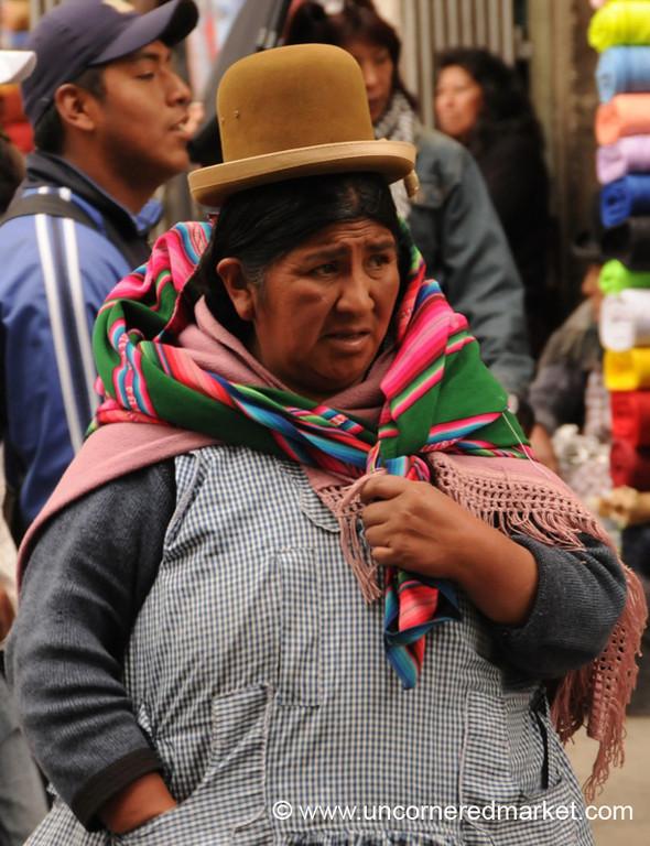 Indigenous Woman - La Paz, Bolivia
