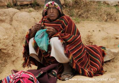 Indigenous Man in Tarabuco, Bolivia