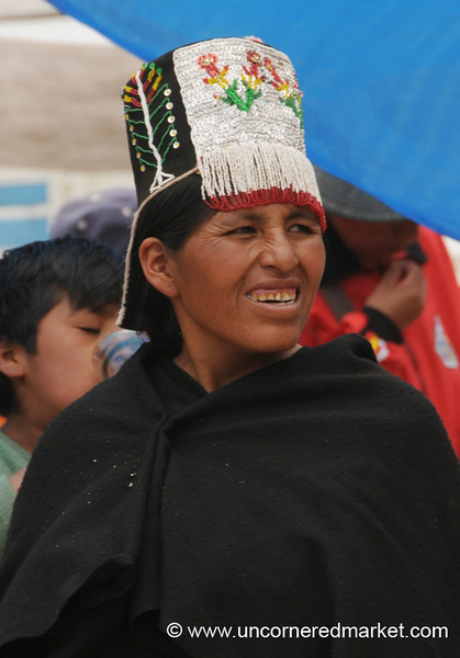 Traditional Tarabuco Headgear - Bolivia