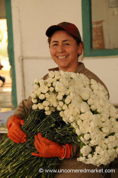 Mery and Her Flowers - Outside Cochabamba, Bolivia