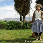 Showing Off Her Farm - Outside Cochabamba, Bolivia