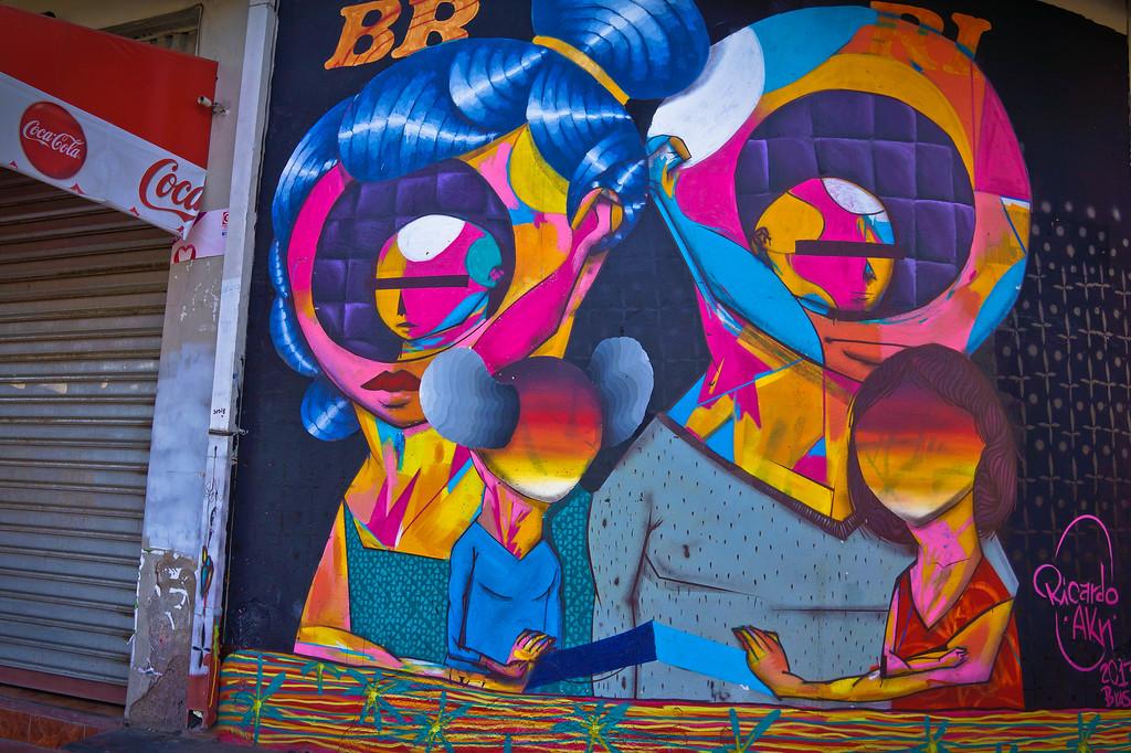 Mural by Ricardo AKN in Cochabamba, Bolivia