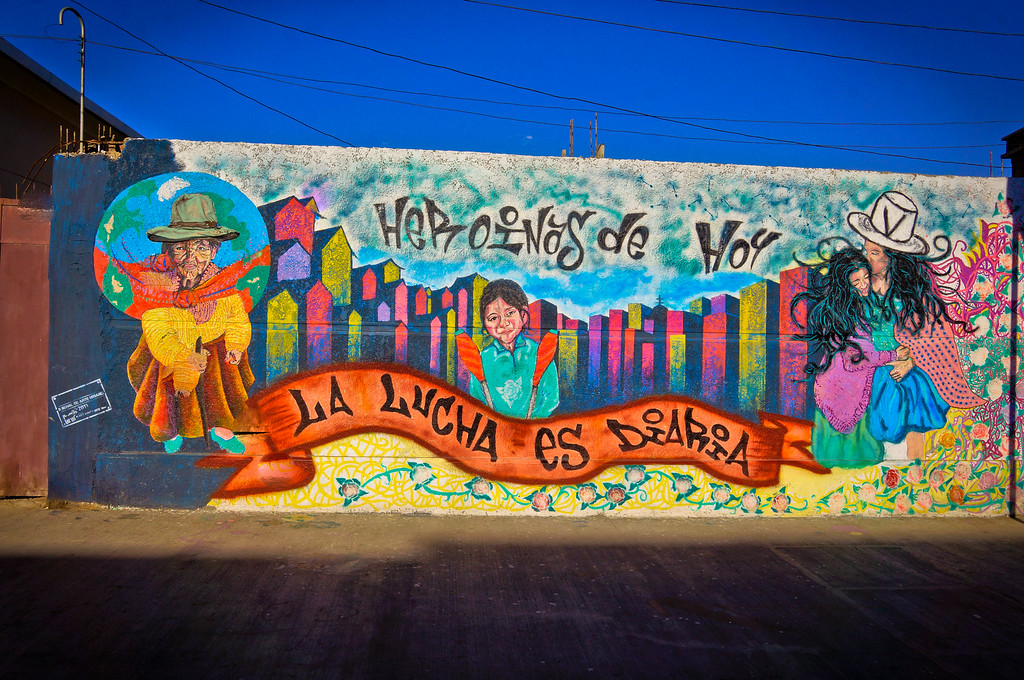 Mural by Simi Warmi in Cochabamba, Bolivia