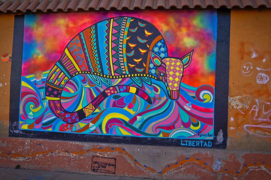 Street art by KNO RKE Leaf in Cochabamba, Bolivia