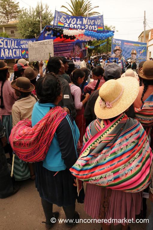 Political Rally in Tupiza, Bolivia