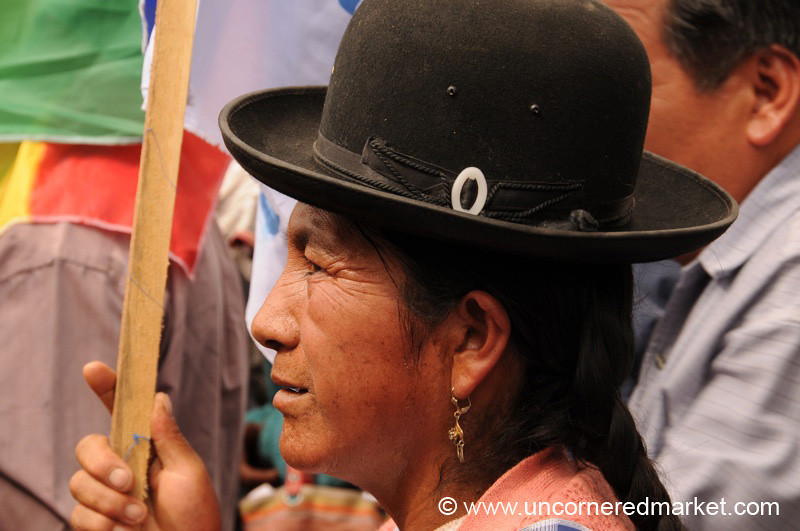 Patiently Waiting - Political Rally in Tupiza, Bolivia