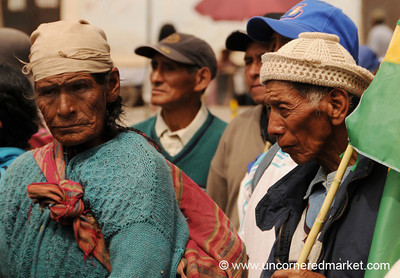 Older Supporters - Political Rally in Tupiza, Bolivia