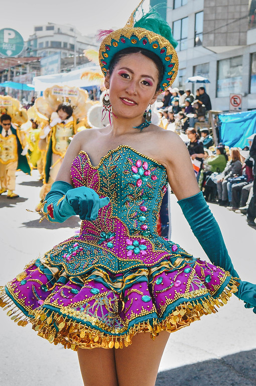 Morenada dancer at the Entrada Universitaria in La Paz, Bolivia