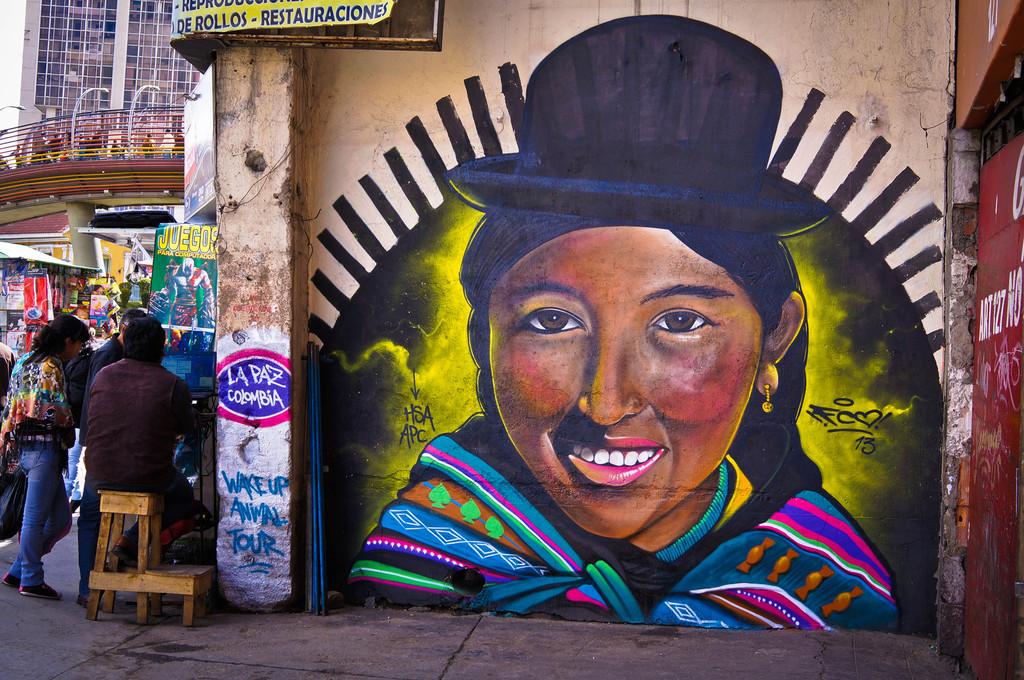 Street art in La Paz by Animal Poder Cultura