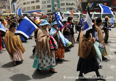 Political Parades in La Paz, Bolivia