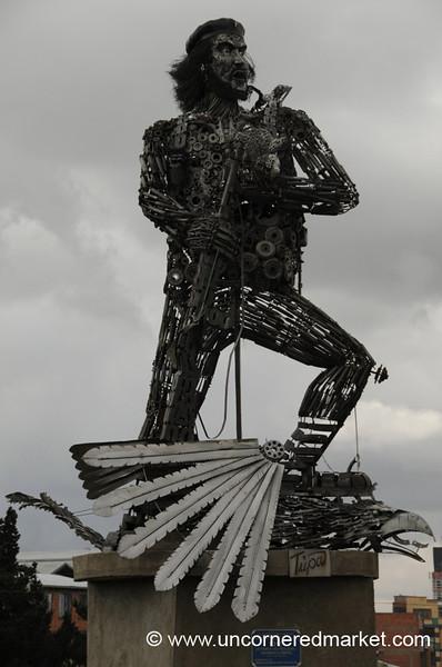 Che Guevara in Junk Metal - El Alto, Bolivia