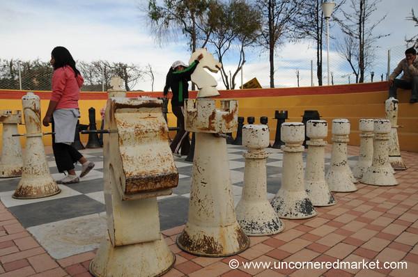Life-Sized Chess Match - La Paz, Bolivia