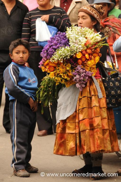 Flower Vendor - La Paz, Bolivia