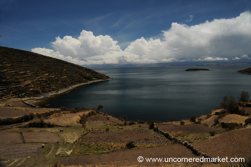 Looking Out on Lake Titicaca - Bolivia