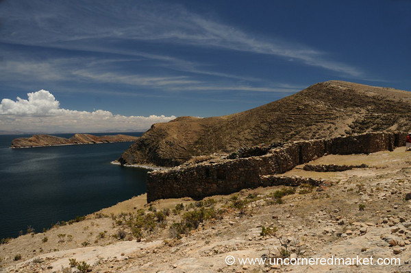 Blue Skies Over Lake Titicaca - Bolivia