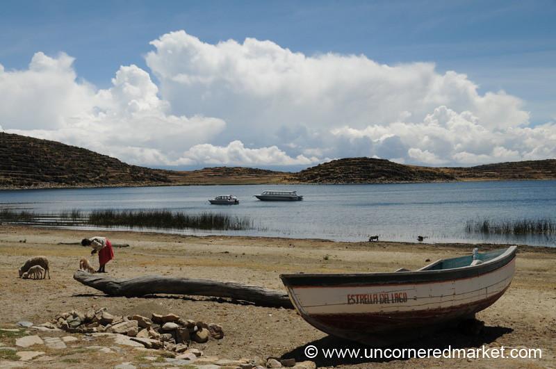 Shores of Lake Titicaca at Cha'llapampa - Bolivia