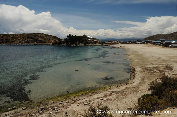 Shores of Lake Titicaca on Isla del Sol - Bolivia