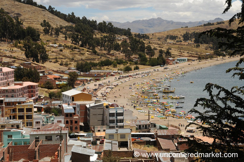 View of Copacabana, Bolivia
