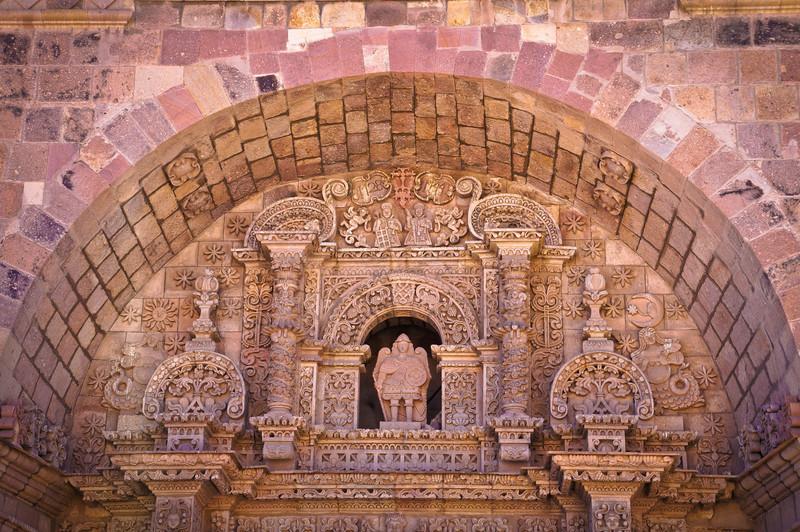 Architecture details in Potosi, Bolivia
