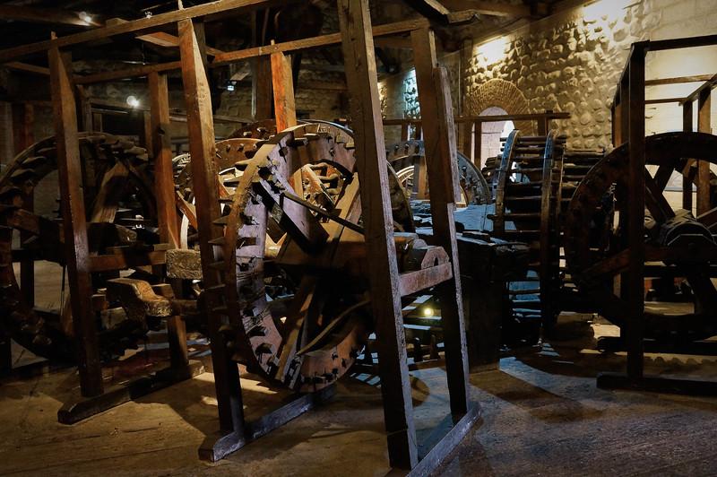 Laminating machine at Casa de la Moneda in Potosi, Bolivia