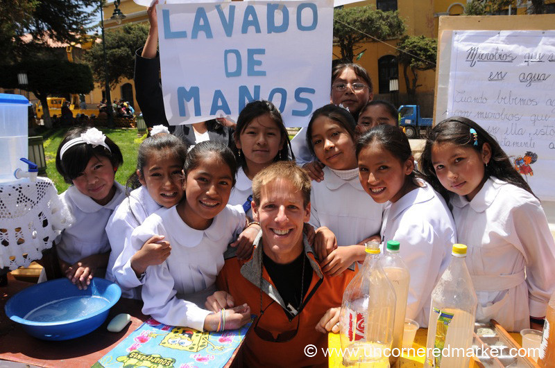 Dan and the Handwashing Girls - Potosi, Bolivia