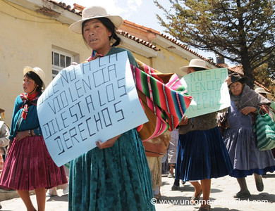 Domestic Violence March - Potosi, Bolivia