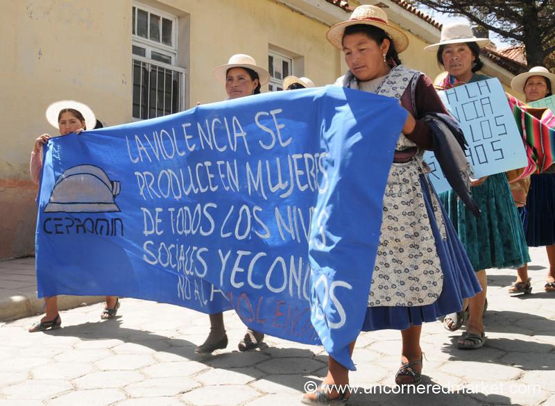 March Against Domestic Violence - Potosi, Bolivia