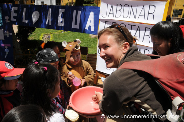 Audrey Learns How to Wash Her Hands - Potosi, Bolivia