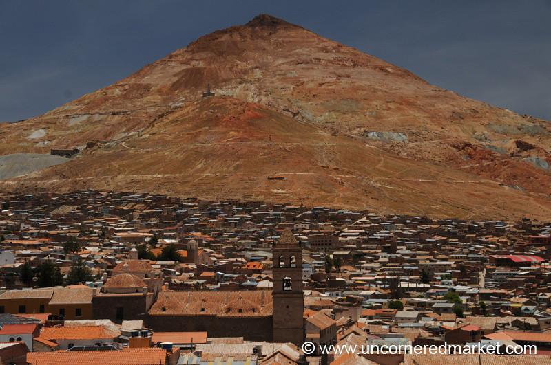 Cerro Rico Looms Over Potosi, Bolivia