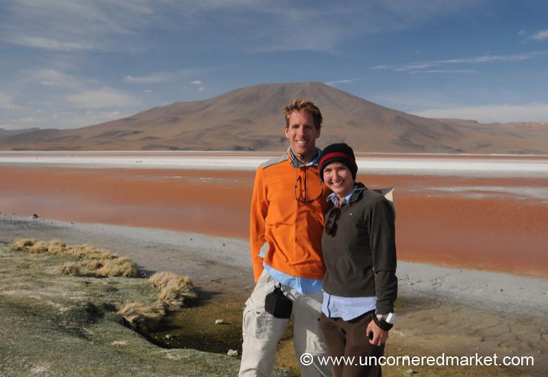 Windblown at the Laguna - Salar Tour, Bolivia