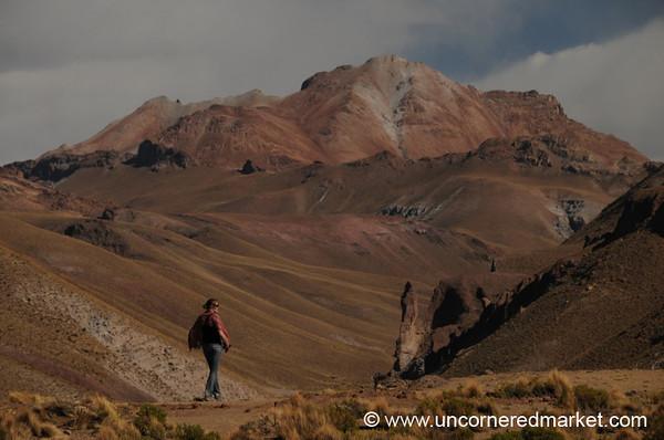 Turning a Corner - Salar Tour, Bolivia