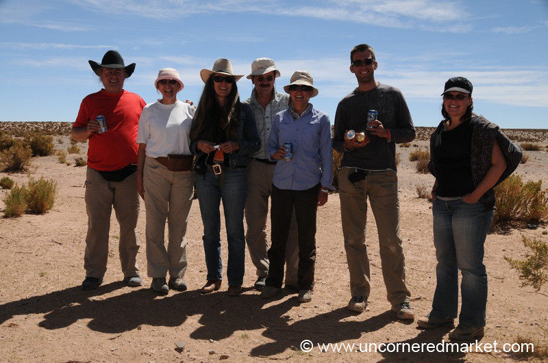 Beer Break in the Desert - Salar Tour, Bolivia