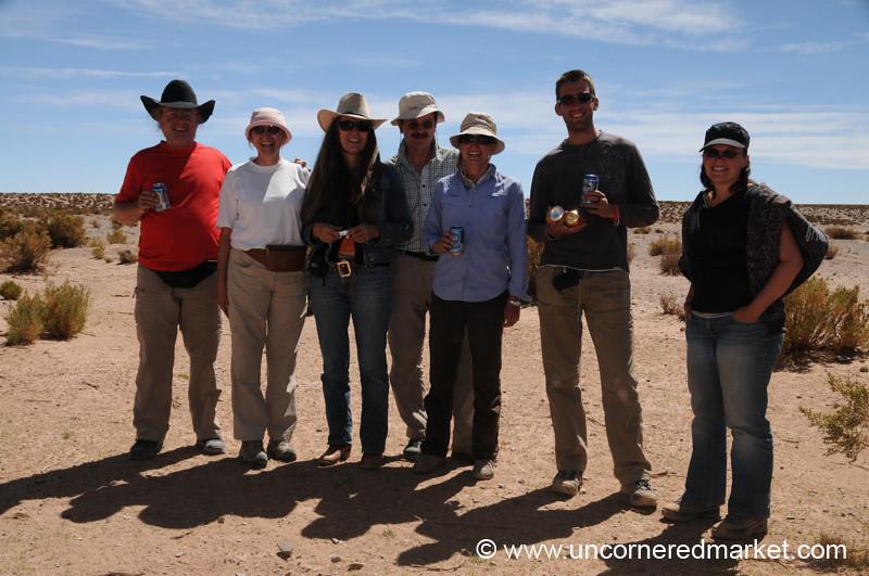 Beer Break in the Desert - Salar Tour, Bolivia