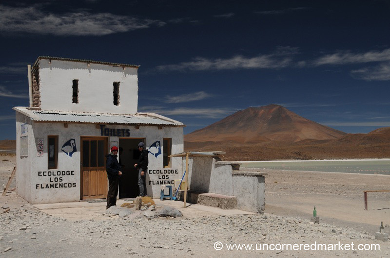 A Fine Bathroom in the Desert - Salar Tour, Bolivia