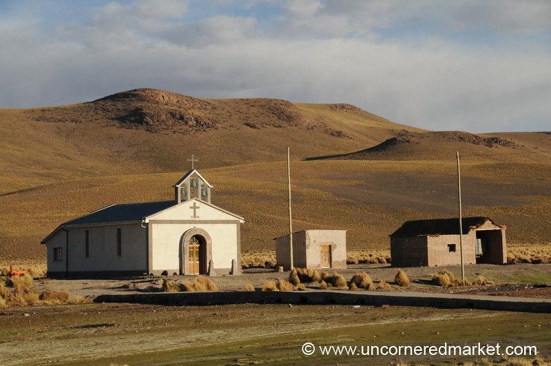 Desert Churchscape - Salar Tour, Bolivia