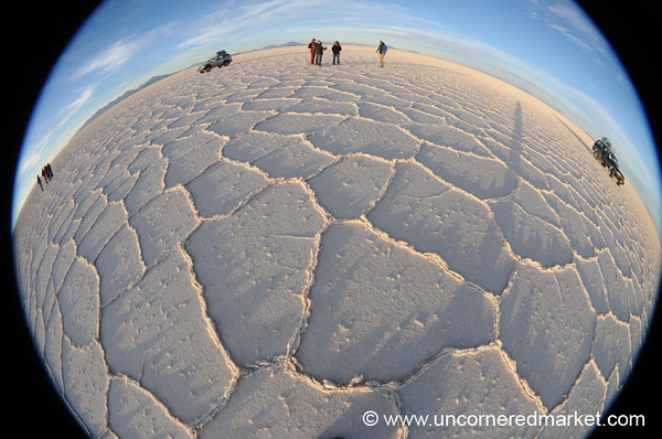 Salt Flat Fisheye - Salar de Uyuni, Bolivia