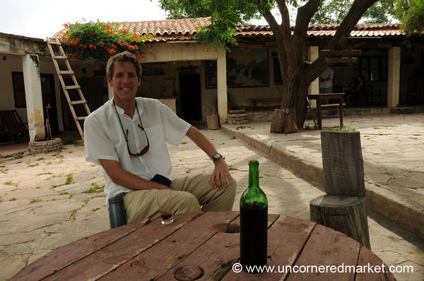 Relaxing at Hosteria in El Valle, Bolivia