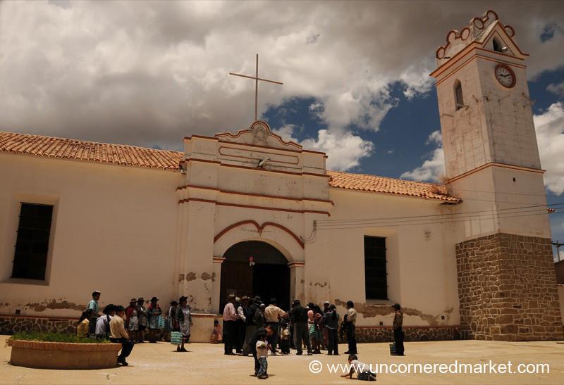 Wedding at the Church in Tarabuco - Bolivia