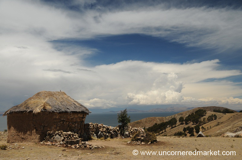 Simple Housing on Isla del Sol - Lake Titicaca, Bolivia