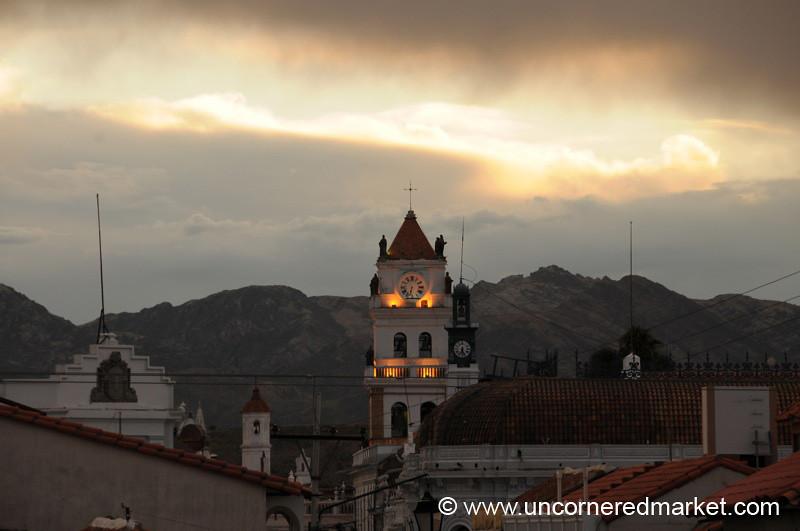 Sucre at Dusk - Bolivia