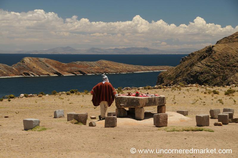 Sacrifice Table on Isla del Sol - Lake Titicaca, Bolivia