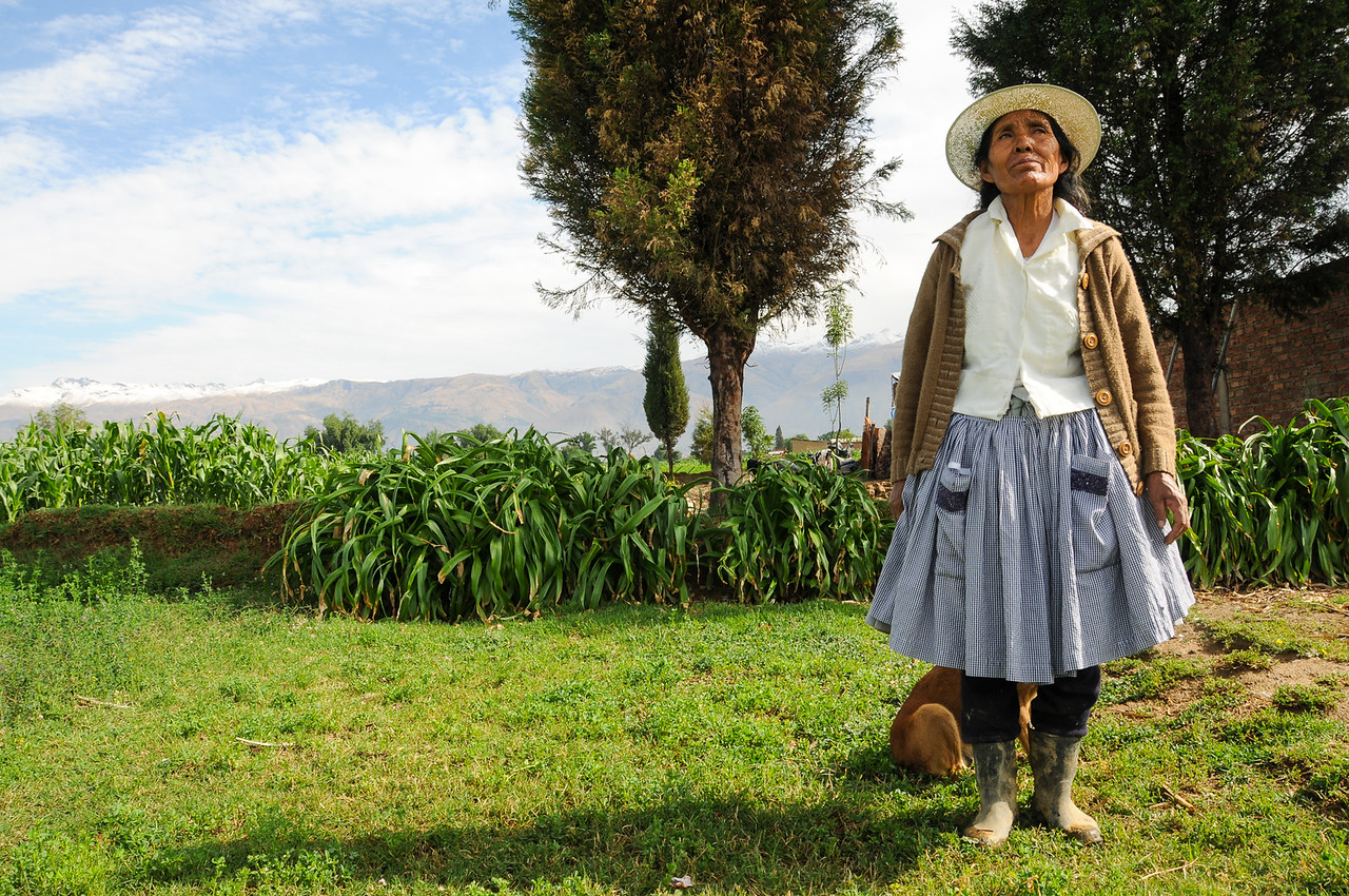 Showing Off Her Farm - Outside Cochabamba, Bolivia