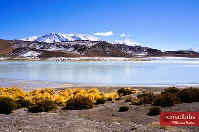 Chiarcota lagoon in Bolivia